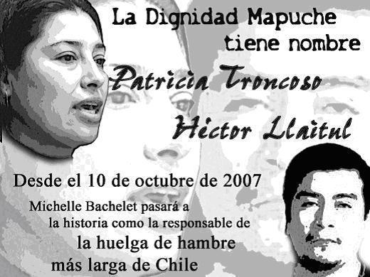 Resultado de imagen para detenidos Patricia Troncoso, Víctor Ancalef